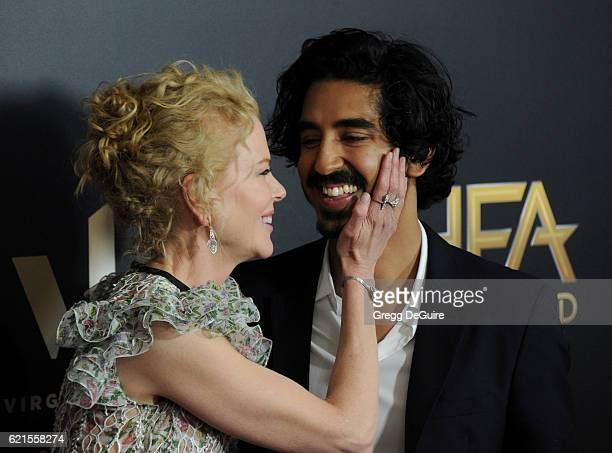 Actors Nicole Kidman and Dev Patel arrive at the 20th Annual Hollywood Film Awards at The Beverly Hilton Hotel on November 6 2016 in Los Angeles...