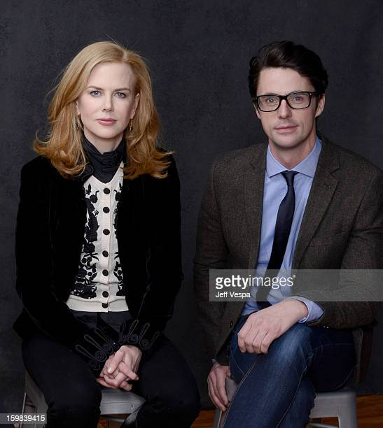 Actors Nicole Kidman and Matthew Goode pose for a portrait during the 2013 Sundance Film Festival at the WireImage Portrait Studio at Village At The...