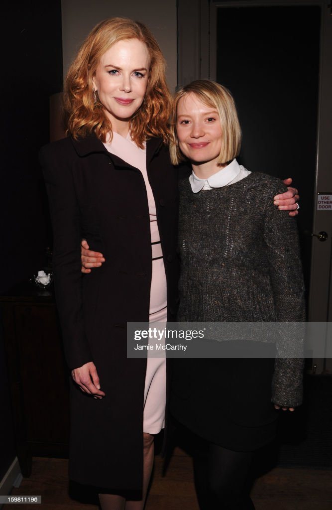 Actors Nicole Kidman and Mia Wasikowska attend Grey Goose Blue Door part for Fox Searchlight Pictures 'Stoker' and 'The East' on January 20, 2013 in Park City, Utah.