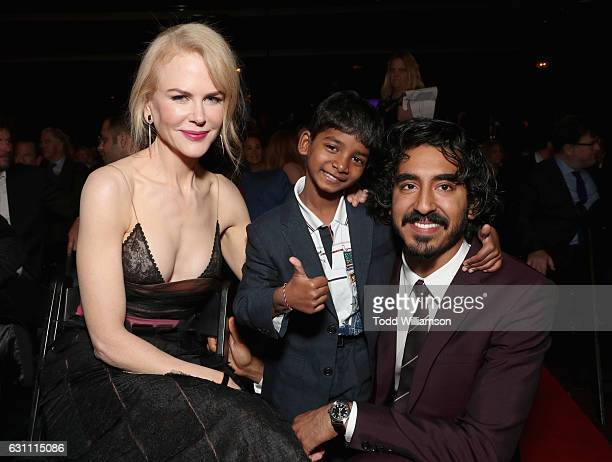 Actors Nicole Kidman Sunny Pawar and Dev Patel attend The 6th AACTA International Awards on January 6 2017 in Los Angeles California