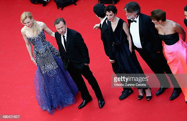 Actors Nicole Kidman Tim Roth Jeanne Balibar producer PierreAnge Le Pogam and a guest attend the Opening ceremony and the 'Grace of Monaco' Premiere...