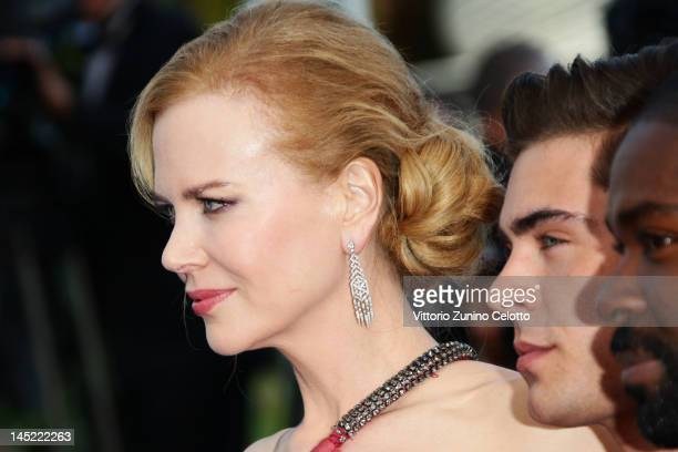 """Actors Nicole Kidman, Zac Efron and David Oyelowo attend the """"The Paperboy"""" premiere during the 65th Annual Cannes Film Festival at Palais des..."""