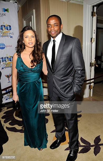 Actors Nicole Lyn and Dule Hill attend the 20th Annual Night of 100 Stars Oscar Gala in the Crystal Ballroom at the Beverly Hills Hotel on March 7...