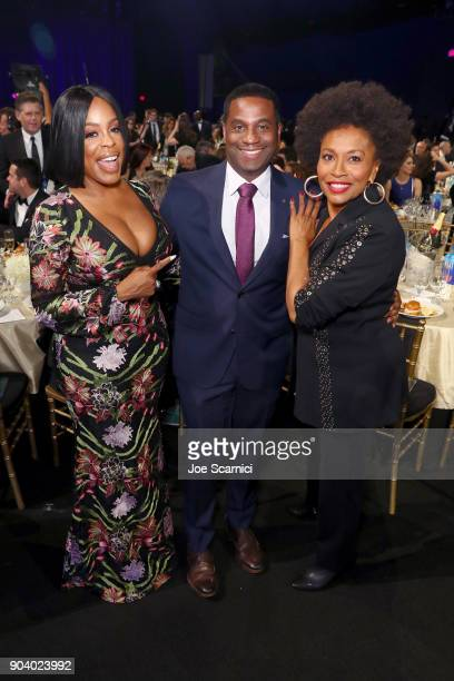 Actors Niecy Nash and Jenifer Lewis attend the 23rd Annual Critics' Choice Awards on January 11 2018 in Santa Monica California