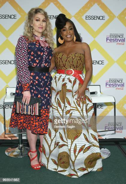 Actors Niecy Nash and Jenn Lyon Vivica A Fox attend the 2018 Essence Festival on July 7 2018 in New Orleans Louisiana