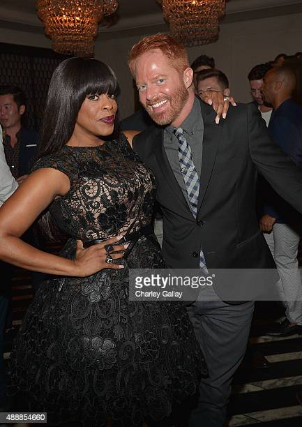 Actors Niecy Nash and Jesse Tyler Ferguson attend the Audi Celebrates Emmys Week 2015 at Cecconi's Restaurant on September 17 2015 in Los Angeles...