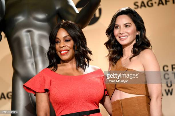 Actors Niecy Nash and Olivia Munn at the 24th Annual Screen Actors Guild Awards Nominations Announcement at Silver Screen Theater on December 13 2017...