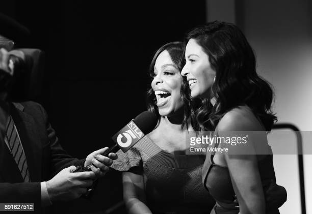 Actors Niecy Nash and Olivia Munn speak at the 24th Annual Screen Actors Guild Awards Nominations Announcement at Silver Screen Theater on December...