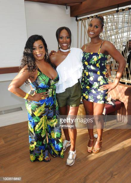 Actors Niecy Nash Yvonne Orji and Issa Rae attend HBO's Insecure Block Party at Banc of California Stadium on July 21 2018 in Los Angeles California