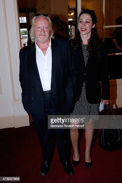 Actors Niels Arestrup and his wife Isabelle le Nouvel attend the 'Open Space' Theater Play at Theatre de Paris on May 11 2015 in Paris France