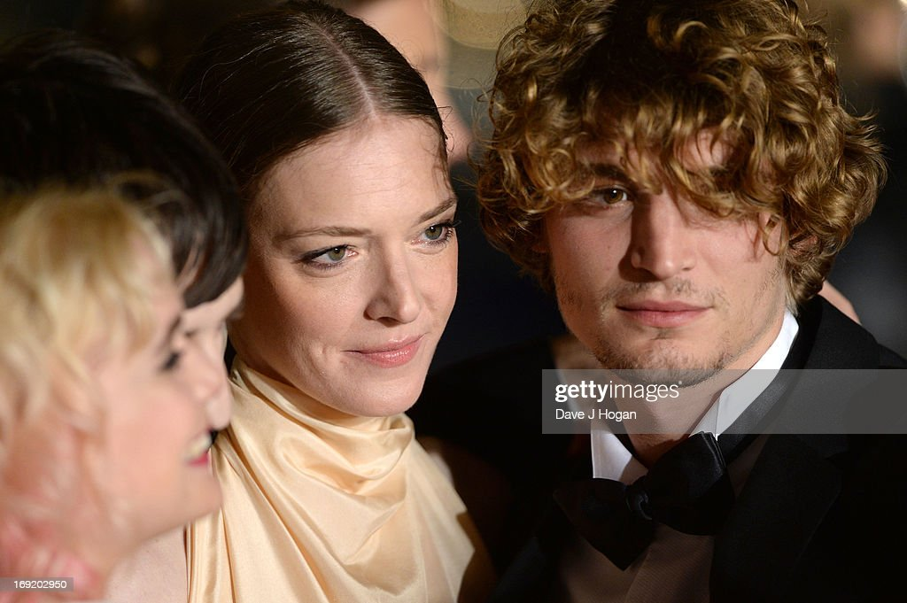 Actors Niels Schneider and Kate Moran attend the 'Les Salauds' premiere during The 66th Annual Cannes Film Festival at Salle Debussy on May 21, 2013 in Cannes, France.