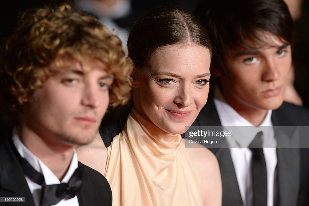 Actors Niels Schneider, Kate Moran and Alain Fabien Delon attend the 'Les Salauds' premiere during The 66th Annual Cannes Film Festival at Salle Debussy on May 21, 2013 in Cannes, France.