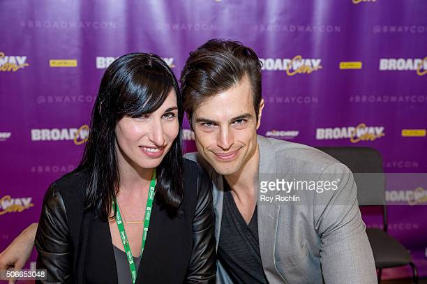 Actors Nikka Graff Lanzarone and Andrew Briedis attend BroadwayCon 2016 at the New York Hilton Midtown on January 24, 2016 in New York City.