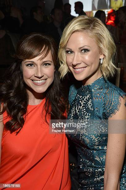 Actors Nikki Deloach and Desi Lydic attendsthe TV Guide Magazine's Hot List Party at Emerson Theatre on November 4 2013 in Hollywood California