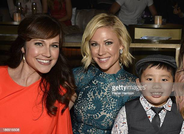 Actors Nikki DeLoach Desi Lydic Albert Tsai attend the TV Guide Magazine's Hot List Party at Emerson Theatre on November 4 2013 in Hollywood...