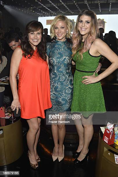 Actors Nikki Deloach Desi Lydic and Molly Tarlov attend the TV Guide Magazine's Hot List Party at Emerson Theatre on November 4 2013 in Hollywood...