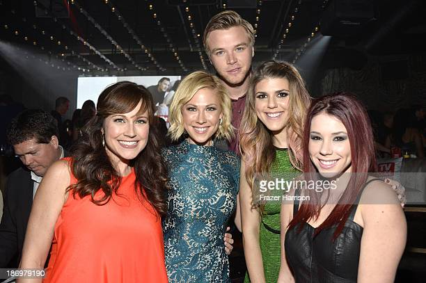 Actors Nikki Deloach Desi Lydic Brett Davern Molly Tarlov and Jillian Rose Reed attend the TV Guide Magazine's Hot List Party at Emerson Theatre on...