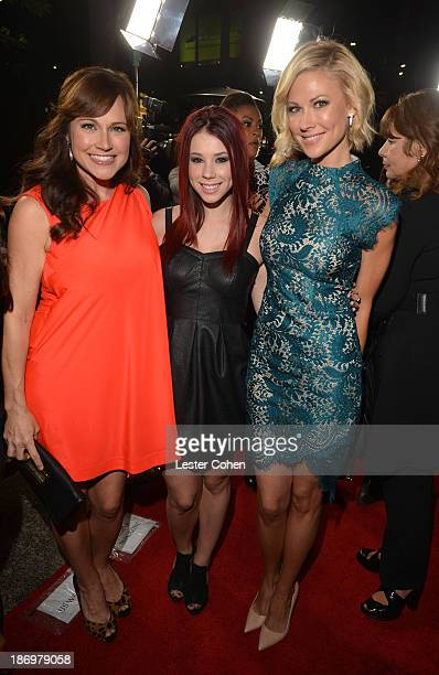 Actors Nikki Deloach Jillian Rose Reed and Desi Lydic attend the TV Guide Magazine's Hot List Party at Emerson Theatre on November 4 2013 in...