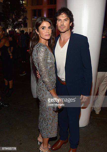 Actors Nikki Reed and Ian Somerhalder attend Entertainment Weekly's Comic-Con Bash held at Float, Hard Rock Hotel San Diego on July 23, 2016 in San...