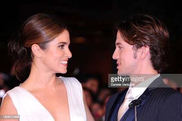 """Actors Nikki Reed and Jackson Rathbone attend the """"Twilight Saga: Breaking Dawn"""" Premiere during the 6th International Rome Film Festival at..."""