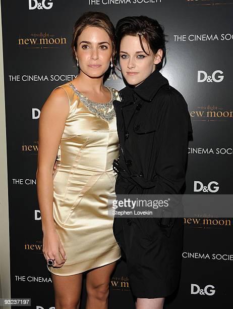 Actors Nikki Reed and Kristen Stewart attend THE CINEMA SOCIETY and DG screening of THE TWILIGHT SAGA NEW MOON at Landmark's Sunshine Cinema on...
