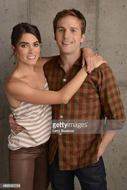 Actors Nikki Reed and Michael StahlDavid from 'In Your Eyes' pose for the Tribeca Film Festival Getty Images Studio on April 22 2014 in New York City