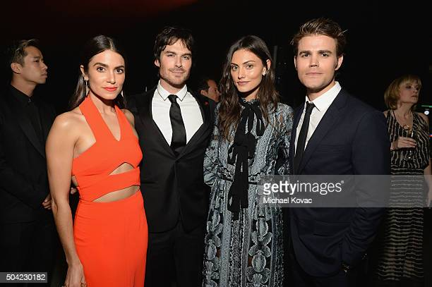 Actors Nikki Reed Ian Somerhalder Phoebe Tonkin and Paul Wesley attend The Art of Elysium 2016 HEAVEN Gala presented by Vivienne Westwood Andreas...