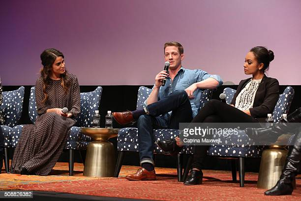 Actors Nikki Reed Zach Appelman Lyndie Greenwood speak during the Sleepy Hollow event during aTVfest 2016 presented by SCAD on February 6 2016 in...