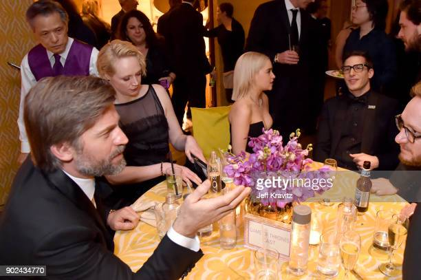 Actors Nikolaj CosterWaldau Gwendoline Christie Emilia Clarke and Andy Samberg attend HBO's Official 2018 Golden Globe Awards After Party on January...