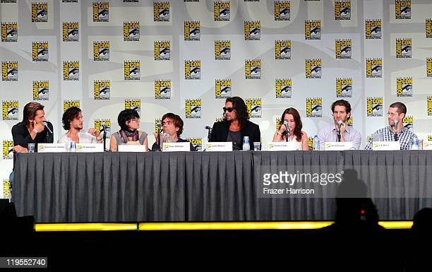 Actors Nikolaj CosterWaldau Kit Harington Lena Headey Peter Dinklage Jason Momoa and Emilia Clarke and writer/producers David Benioff and DB Weiss...
