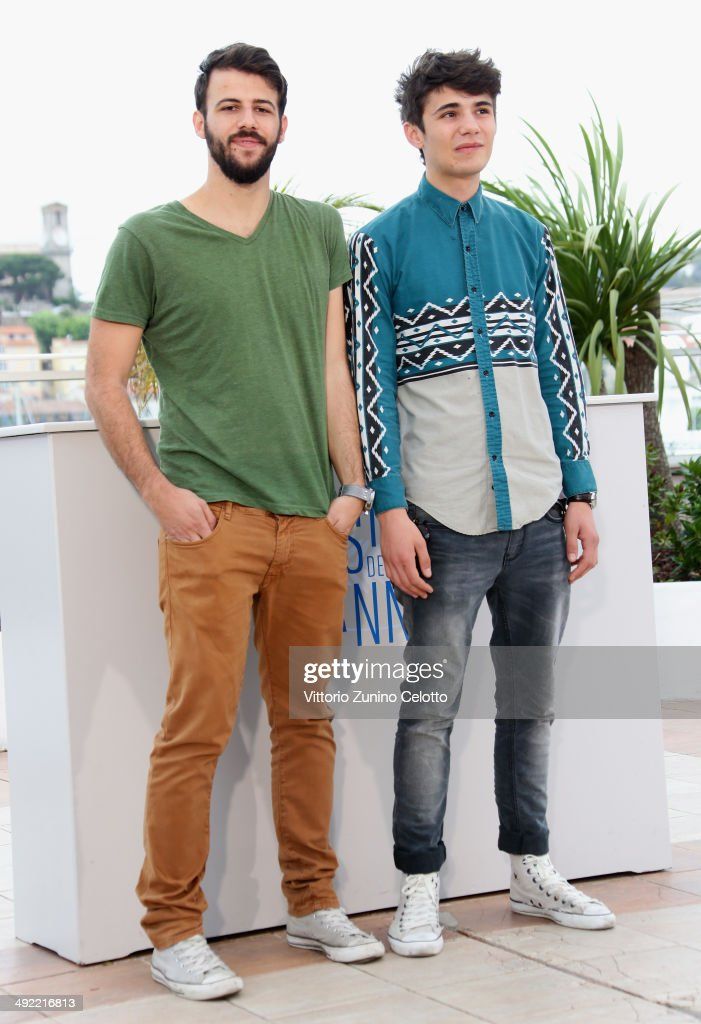 Actors Nikos Gelia and actor Kostas Nikouli attend the 'Xenia' photocall at the 67th Annual Cannes Film Festival on May 19, 2014 in Cannes, France.