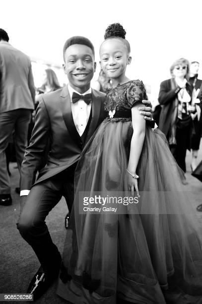 Actors Niles Fitch and Faithe Herman attends the 24th Annual Screen Actors Guild Awards at The Shrine Auditorium on January 21 2018 in Los Angeles...
