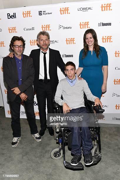 Actors Nils Tavernier Jacques Gamblin Fabien Heraud and Kerri Craddock Senior Manager Festival Programming for the Toronto International Film...