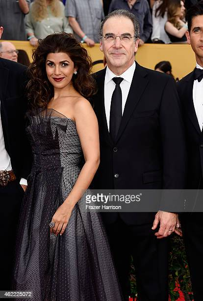 Actors Nimrat Kaur and Mandy Patinkin attend the 21st Annual Screen Actors Guild Awards at The Shrine Auditorium on January 25 2015 in Los Angeles...