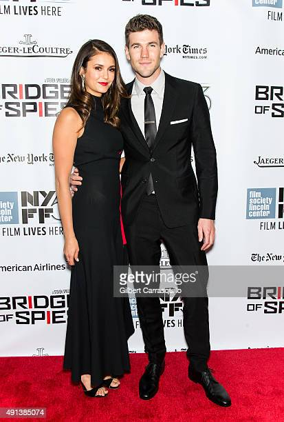 Actors Nina Dobrev and Austin Stowell attend the 53rd New York Film Festival 'Bridge Of Spies' at Alice Tully Hall Lincoln Center on October 4 2015...