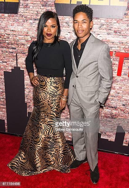 Actors Ninja N Devoe and Kelvin Harrison Jr attend the 'Luke Cage' New York Premiere at AMC Magic Johnson Harlem on September 28 2016 in New York City