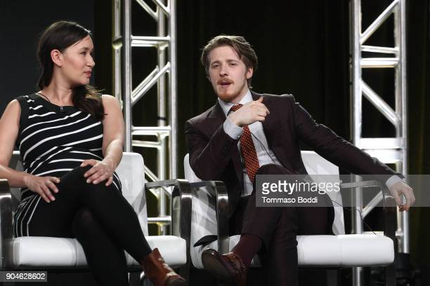 Actors Nive Nielsen and Adam Nagaitis of the television show The Terror speak onstage during the AMC portion of the 2018 Winter Television Critics...