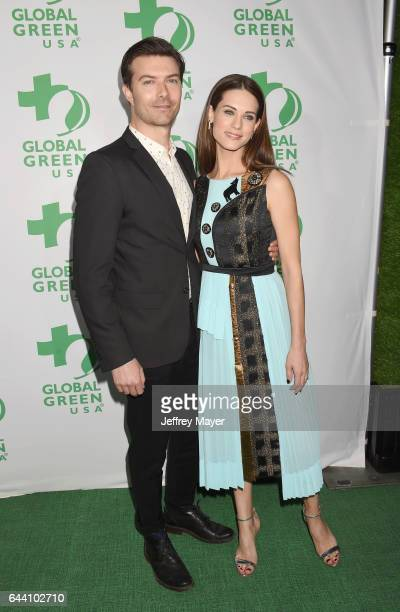 Actors Noah Bean and Lyndsy Fonseca arrive at the 14th Annual Global Green PreOscar Gala at TAO Hollywood on February 22 2017 in Los Angeles...