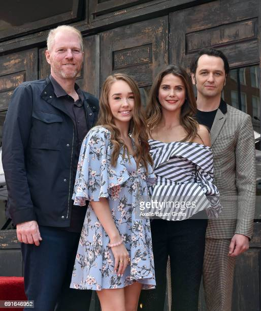 Actors Noah Emmerich Holly Taylor Keri Russell and Matthew Rhys attend the ceremony honoring keri Russell with a star on the Hollywood Walk of Fame...