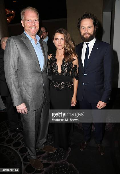 Actors Noah Emmerich Keri Russell and Matthew Rhys attend the 31st annual Television Critics Association Awards at The Beverly Hilton Hotel on August...