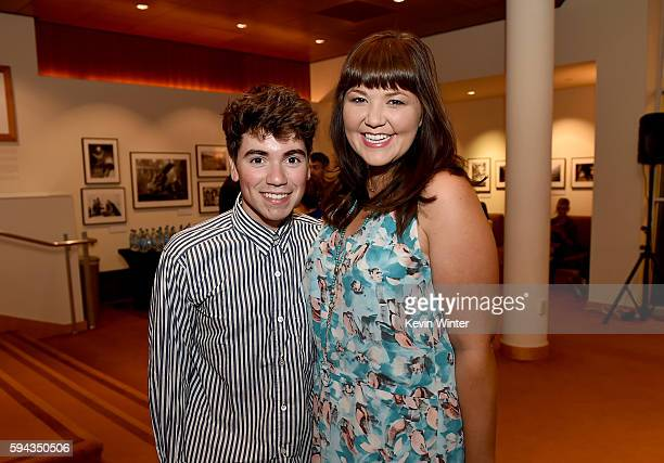"""Actors Noah Galvin and Mary Hollis Inboden attend the premiere of Sony Pictures Classics' """"The Hollars"""" at Linwood Dunn Theater on August 22, 2016 in..."""