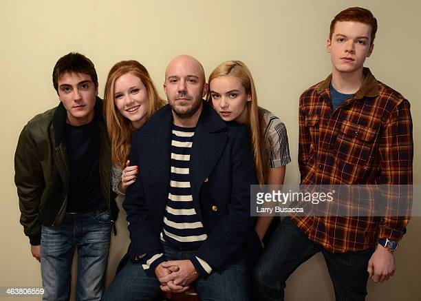Actors Noah Silver and Madisen Beaty filmmaker Carter Smith and actors Morgan Saylor and Cameron Monaghan pose for a portrait during the 2014...