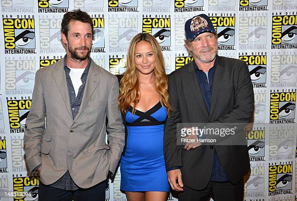 Actors Noah Wyle Moon Bloodgood and Will Patton attend 'Falling Skies' during ComicCon International 2012 held at the Hilton San Diego Bayfront Hotel...