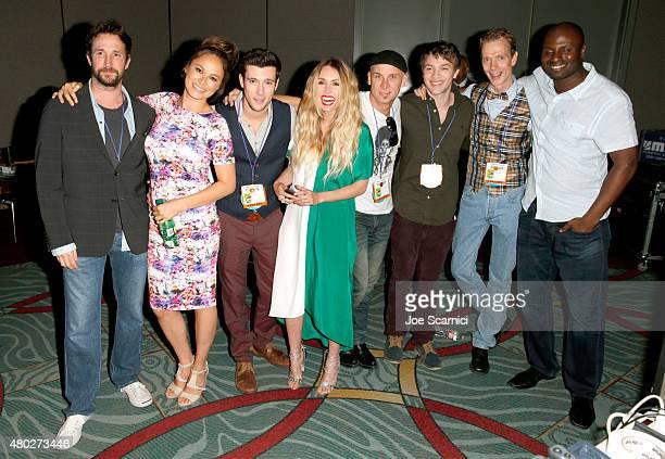 Actors Noah Wyle Moon Bloodgood Drew Roy Sarah Carter Colin Cunningham Connor Jessup Doug Jones and writer/director Olatunde Osunsanmi attend the...
