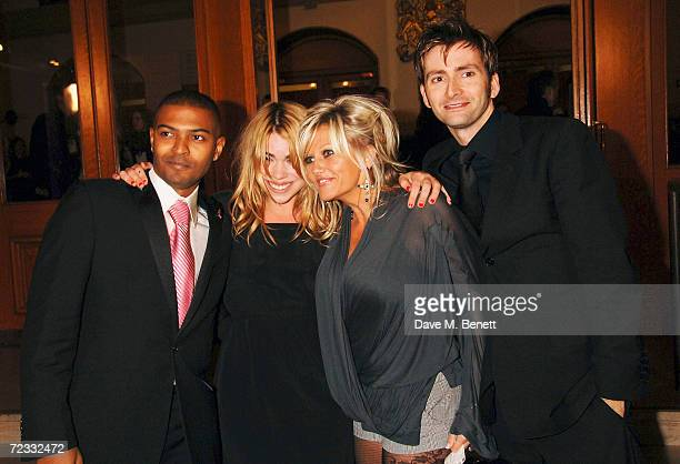 Actors Noel Clarke Billie Piper Camille Coduri and David Tennant arrive at the National Television Awards 2006 at the Royal Albert Hall on October 31...