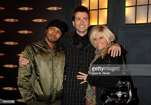 Actors Noel Clarke David Tennant and Camille Coduri attend the gala screening of the 'Doctor Who' Christmas episode at the Science Museum December 18...