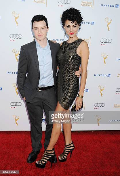 Actors Noel Fisher and Layla Alizada arrive at the Television Academy's 66th Emmy Awards Performance Nominee Reception at the Pacific Design Center...