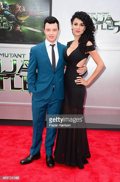 Actors Noel Fisher and Layla Alizada attend Paramount Pictures' 'Teenage Mutant Ninja Turtles' premiere at Regency Village Theatre on August 3 2014...