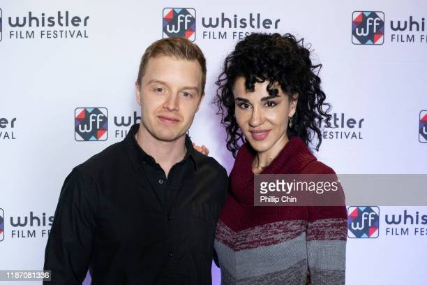 Actors Noel FIsher and Layla Alizada attend the red carpet for her film The Cuban at the Maury Young Arts Centre during the 2019 Whistler Film...