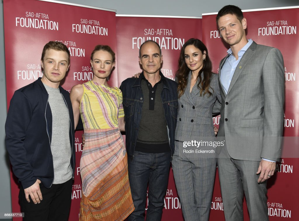 Actors Noel Fisher, Kate Bosworth, Michael Kelly, Sarah Wayne Callies, and Jon Beavers pose for portrait at SAG-AFTRA Foundation Conversations screening of 'The Long Road Home' at SAG-AFTRA Foundation Screening Room on October 30, 2017 in Los Angeles, California.